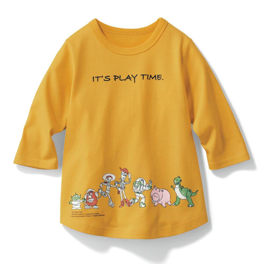 日本千趣會 - 迪士尼印花七分袖T-玩具總動員-黃