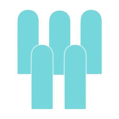 Fence 無毒護欄型防撞壁貼-藍色-5入