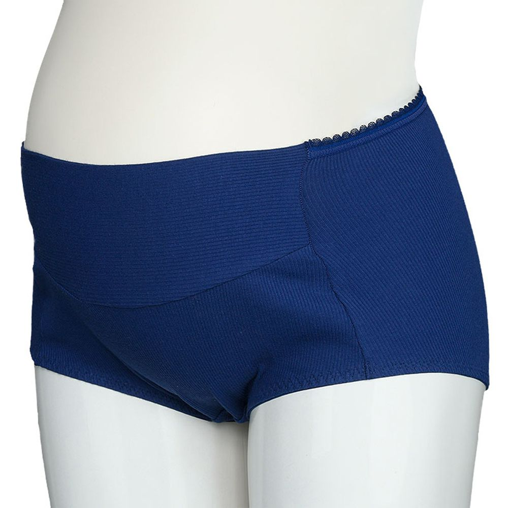 akachan honpo - 孕婦內褲 產後也可穿-羅紋-深藍色