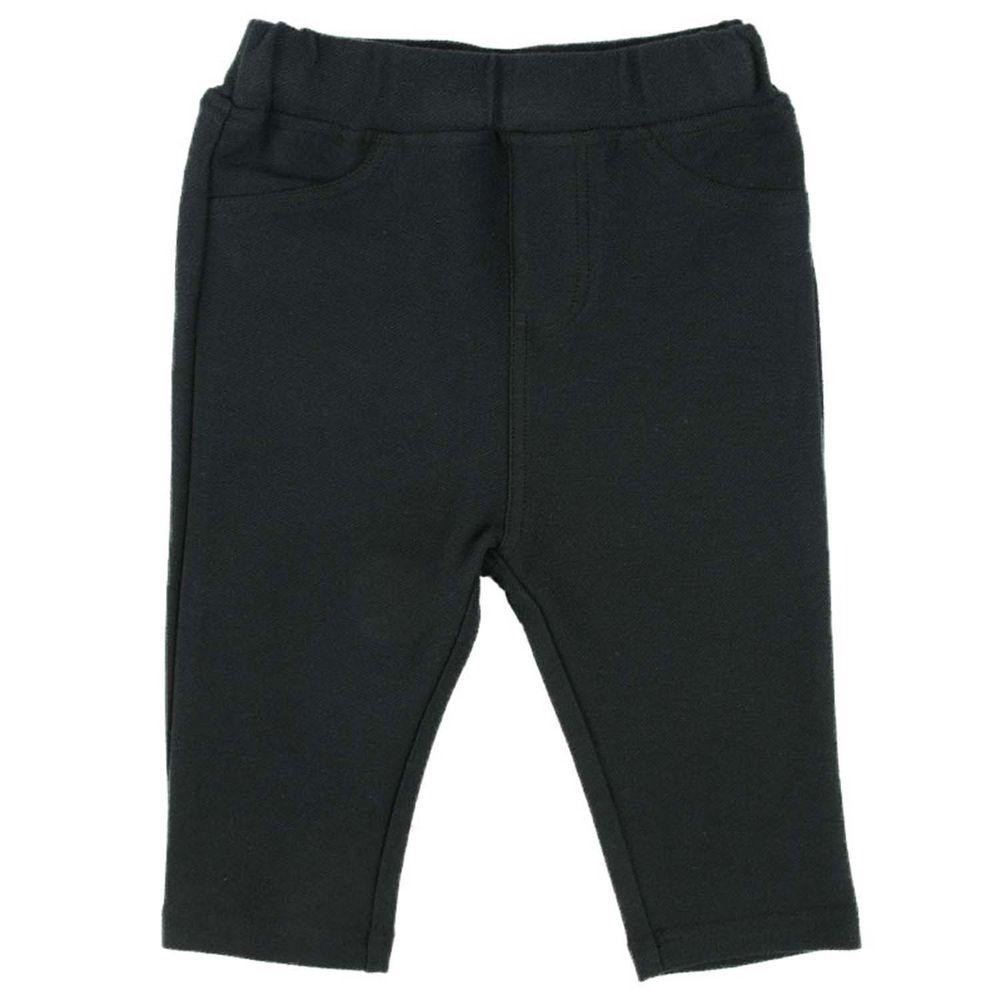 akachan honpo - 男7分彈性緊身褲-黑色