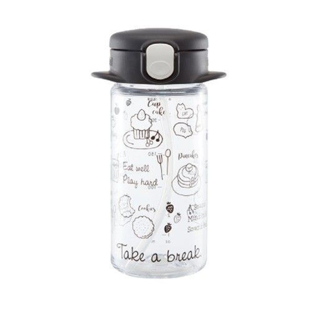 日本 Richell 利其爾 - aqulea Slim mug Tritan 水杯-兒童水壺-俏皮甜點-黑色-240ml