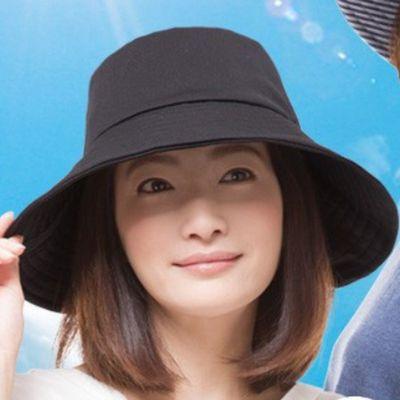 可折疊抗UV涼感遮陽帽-黑 (頭圍57.5cm內)