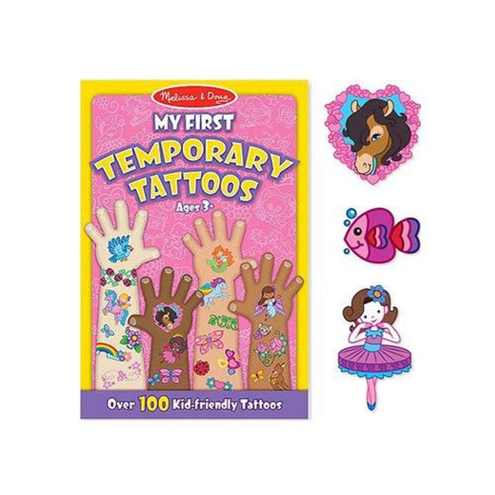 美國瑪莉莎 Melissa & Doug - MD 貼紙簿-紋身貼-女孩