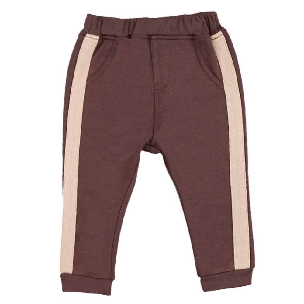 akachan honpo - 10分長褲-線條-咖啡色