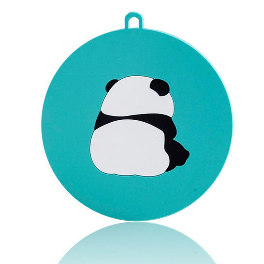北歐矽膠圓形隔熱墊-熊貓