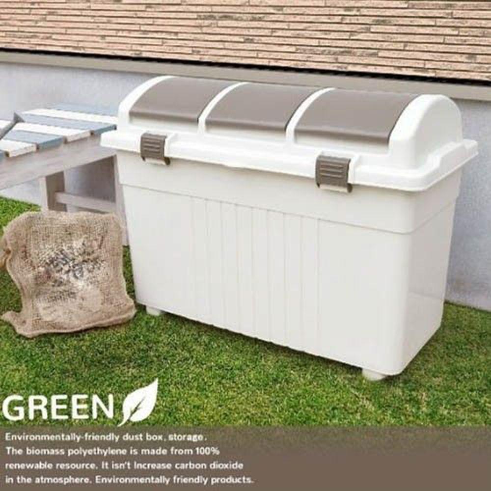 日本 GREEN - 三分類環保多功能收納垃圾桶-100L