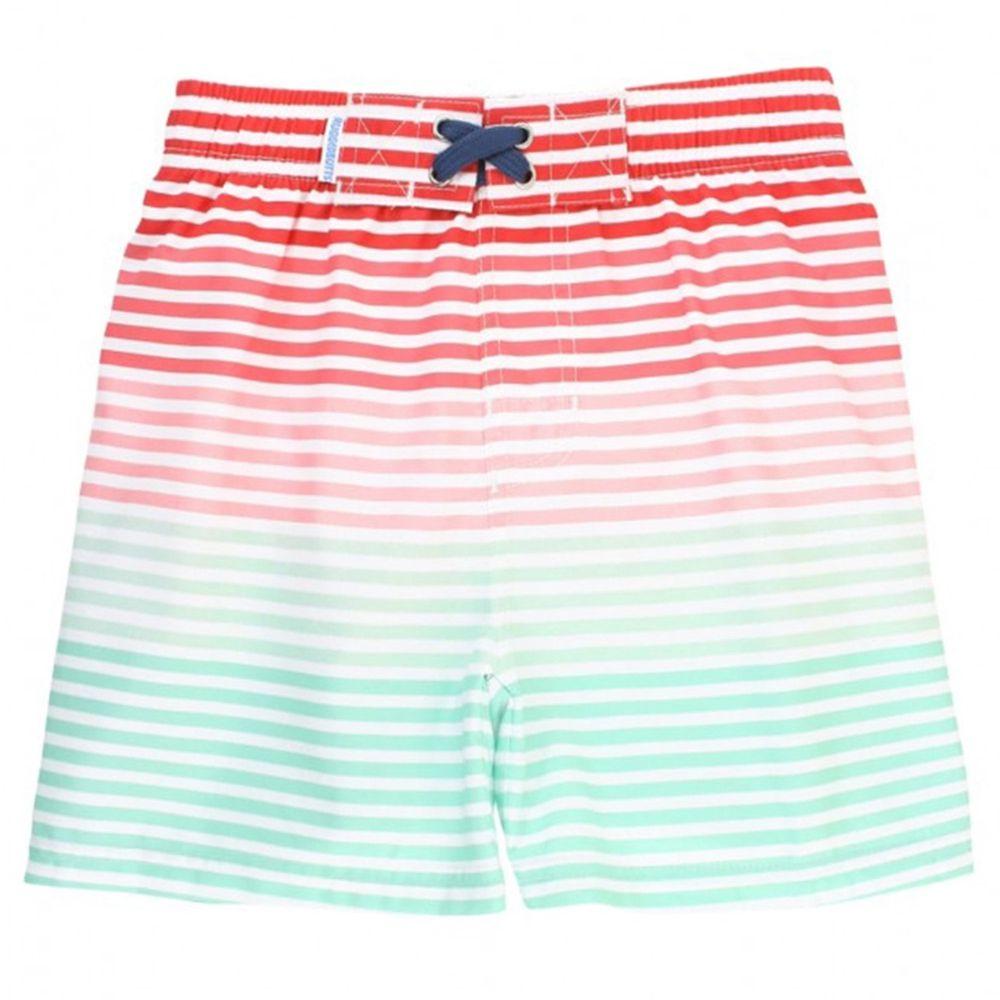美國 RuffleButts - 小男童UPF 50+防曬泳褲-草莓冰沙