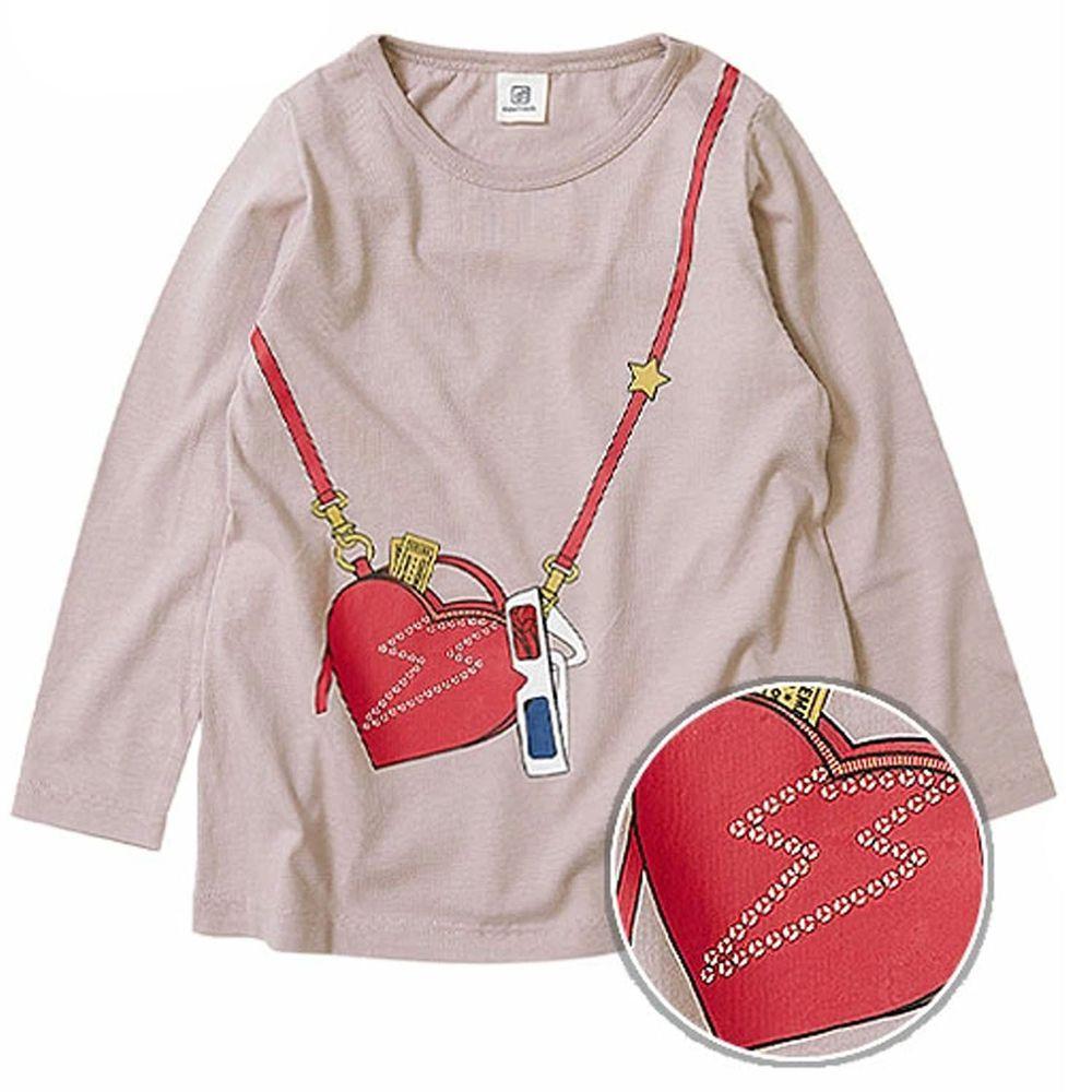 日本 devirock - 純棉 定番百搭印花長T-閃電側背包-薰衣草
