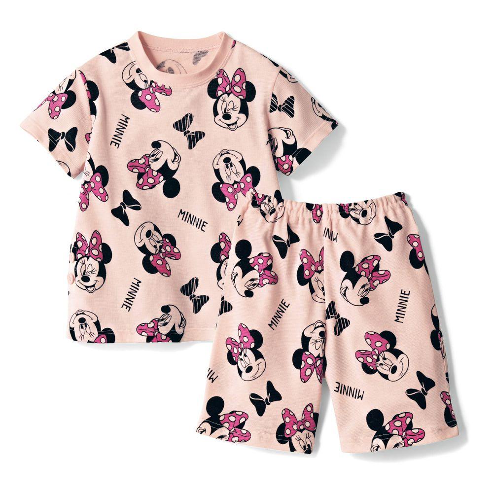日本千趣會 - 迪士尼純棉短袖家居服-滿版米妮-粉紅