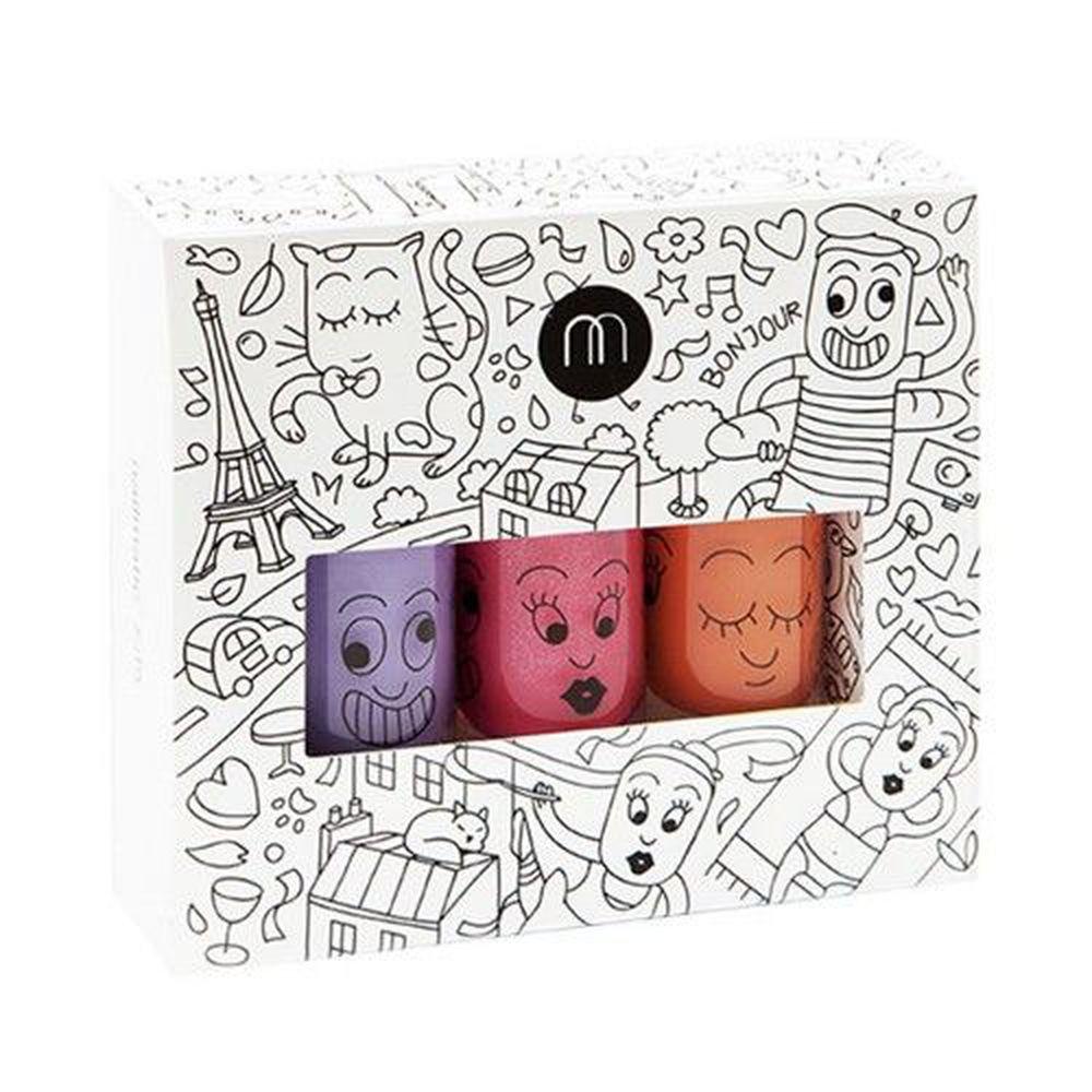 Nailmatic - Nailmatic 城市水漾亮彩指甲油(3入)-加奈紫+凱蒂+朵麗指甲油-8ml*3