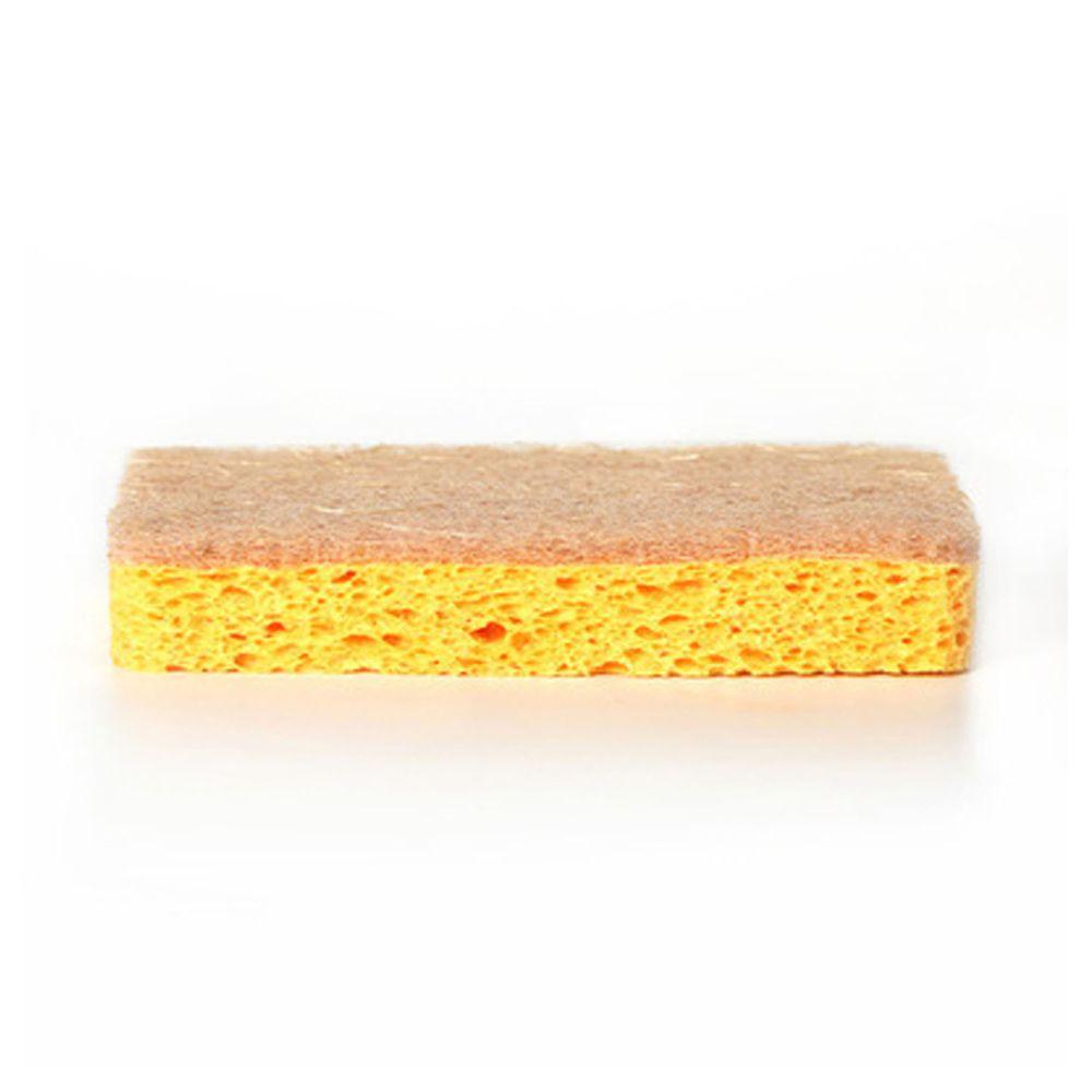 天然木漿棉椰絲海綿清潔刷-單面