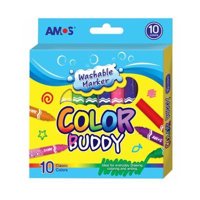 10色粗頭可水洗彩色筆