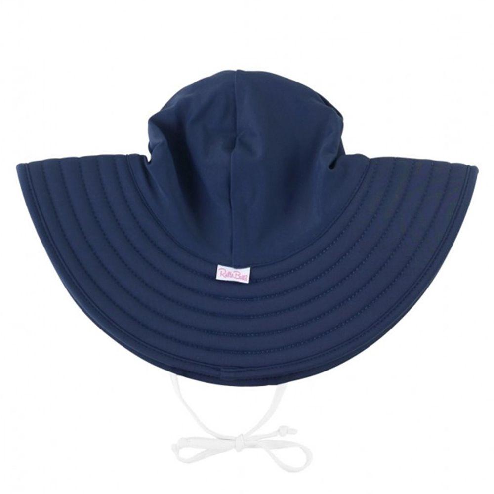 美國 RuffleButts - 嬰幼兒UPF 50+防曬遮陽帽-海軍藍