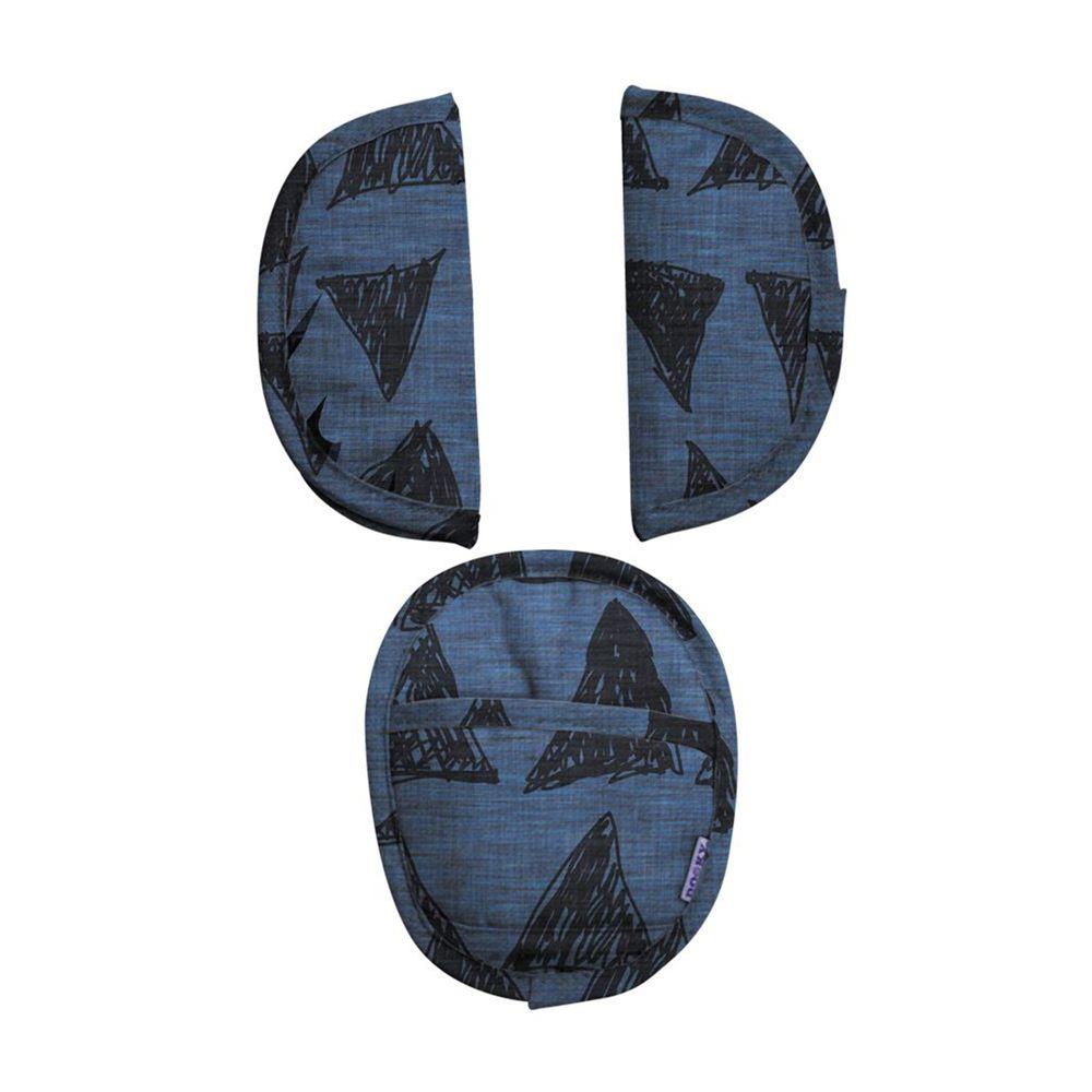 荷蘭 DOOKY - 手提汽座安全帶護套/墊-異國靛藍
