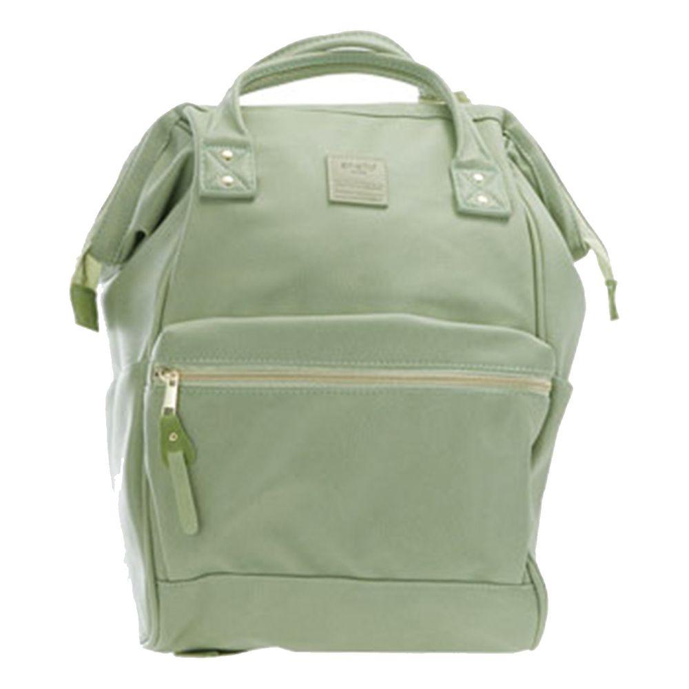 日本 Anello - 日本大開口皮革後背包-Regular大尺寸-MTG薄荷綠