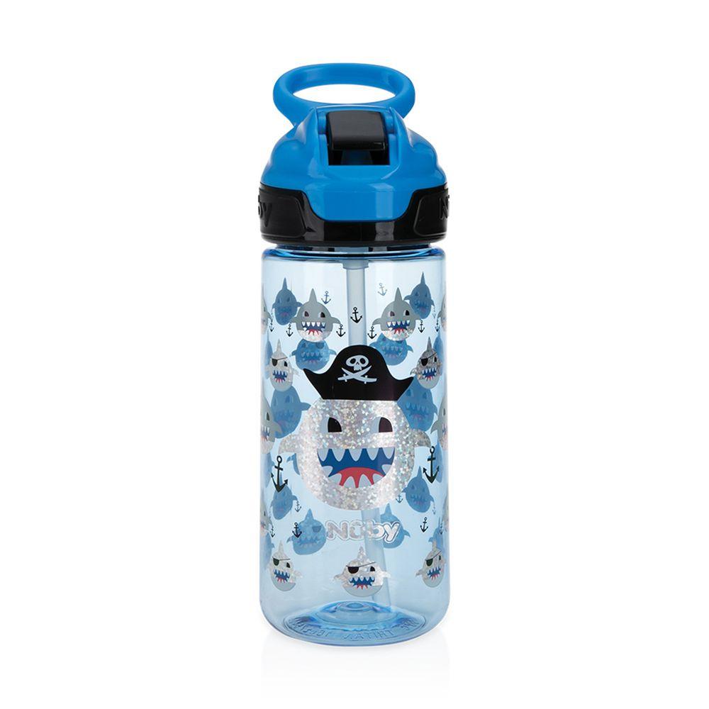 Nuby - 晶透運動水杯(閃亮款)鴨嘴-鯊魚