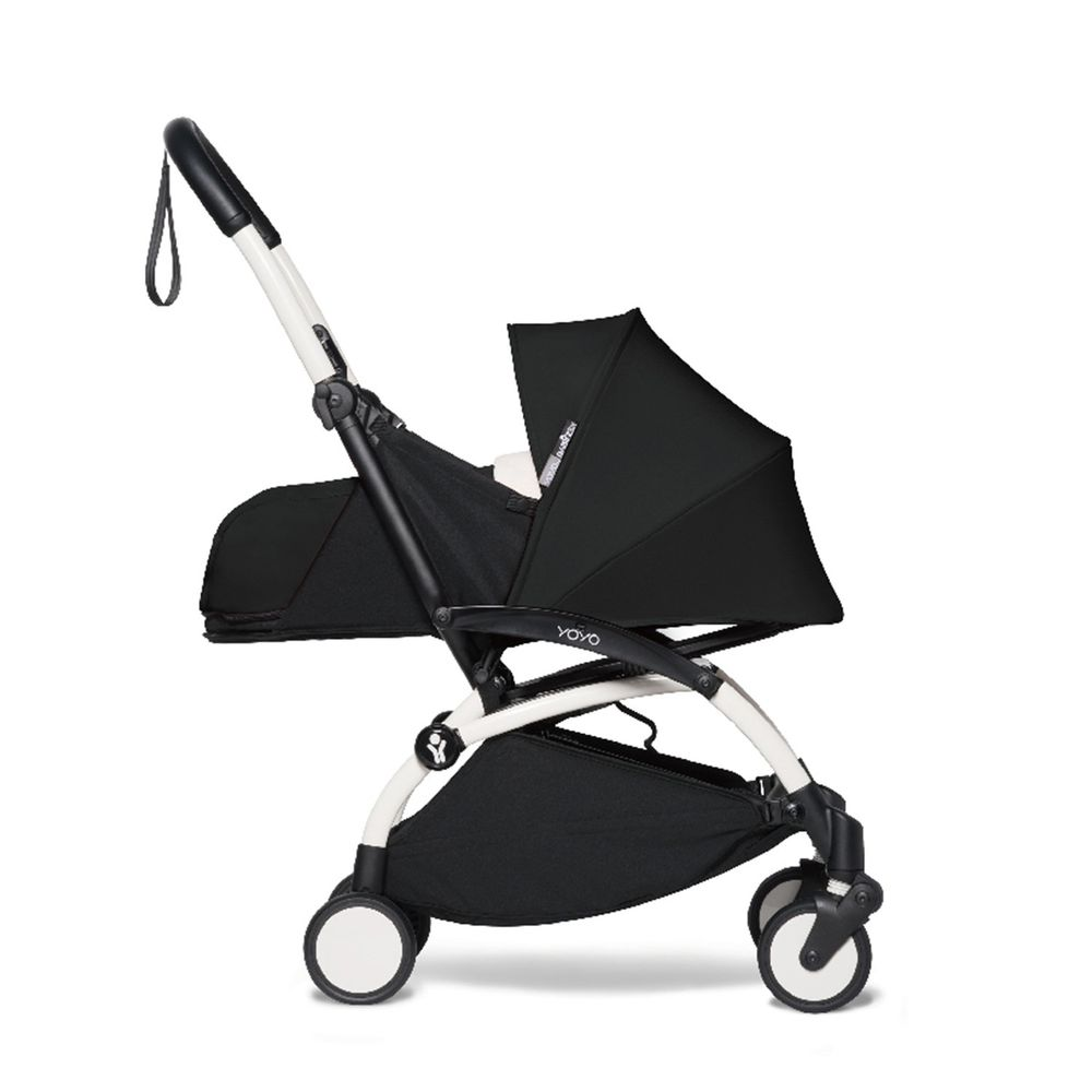 法國BABYZEN - YOYO² 嬰兒手推車0+-白管-黑-0m+