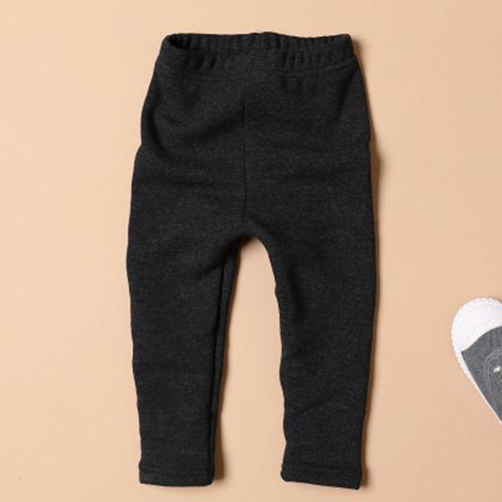 韓國製 - 裏起毛針織內搭褲-深灰