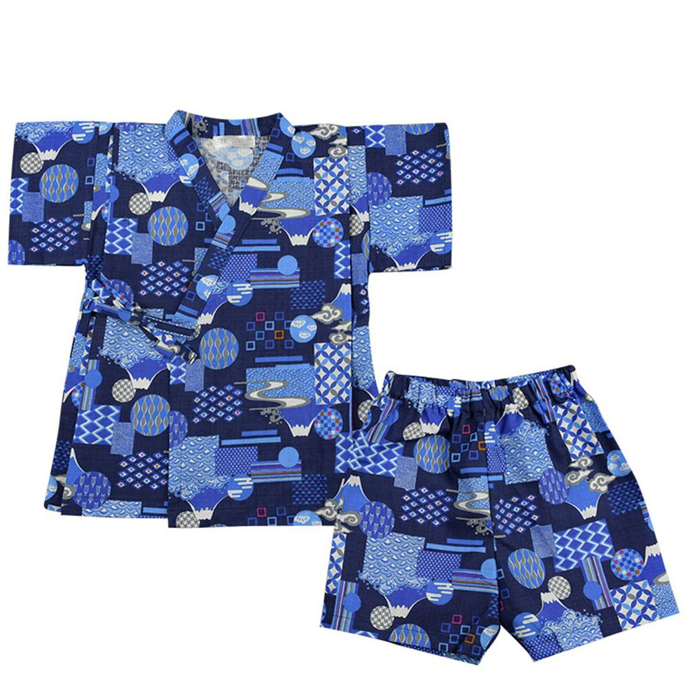 akachan honpo - 兩件式甚平-富士和風-深藍色