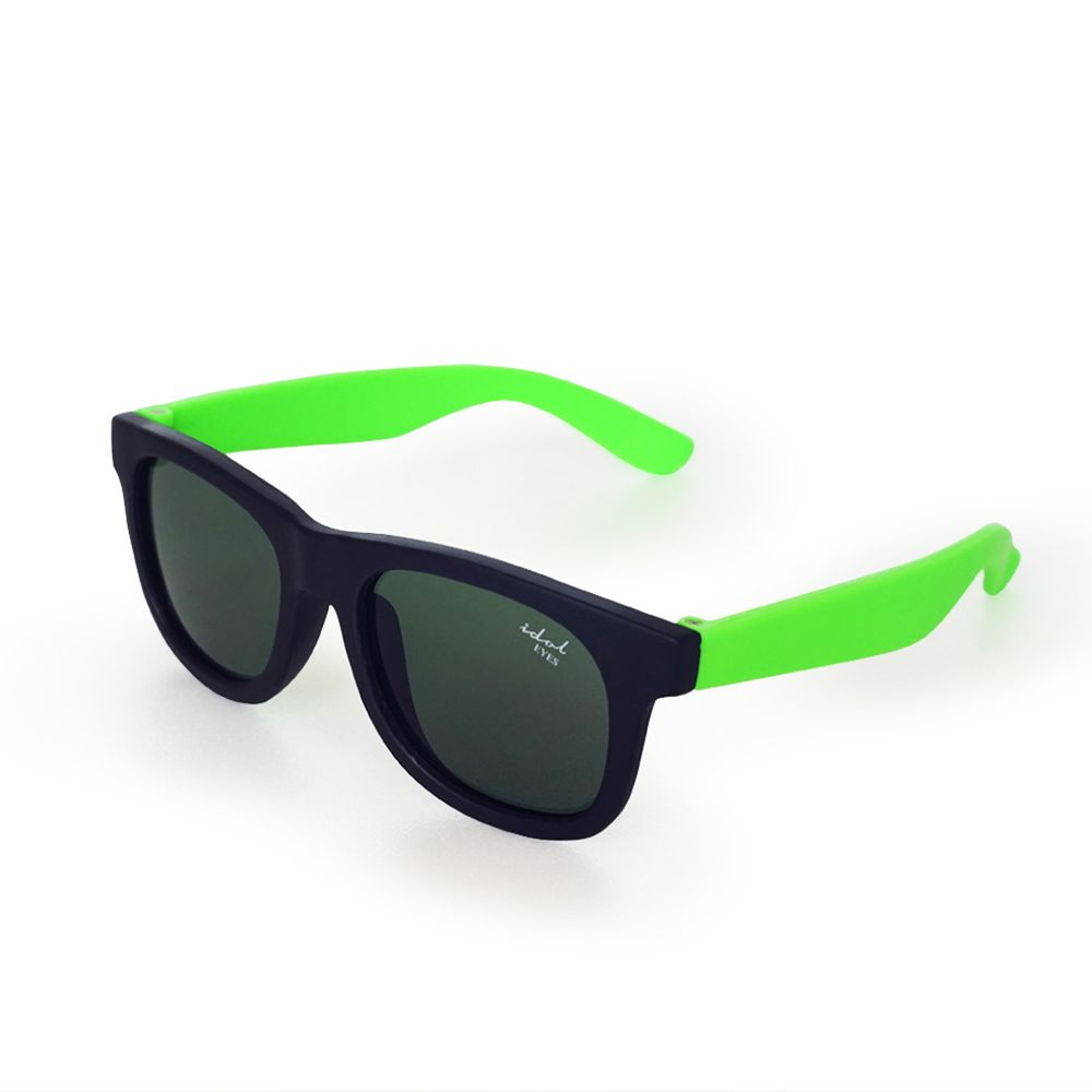 Idol EYES - 兒童太陽眼鏡-簡約時尚系列Classic-黑色+螢光綠 (2-5歲兒童款)