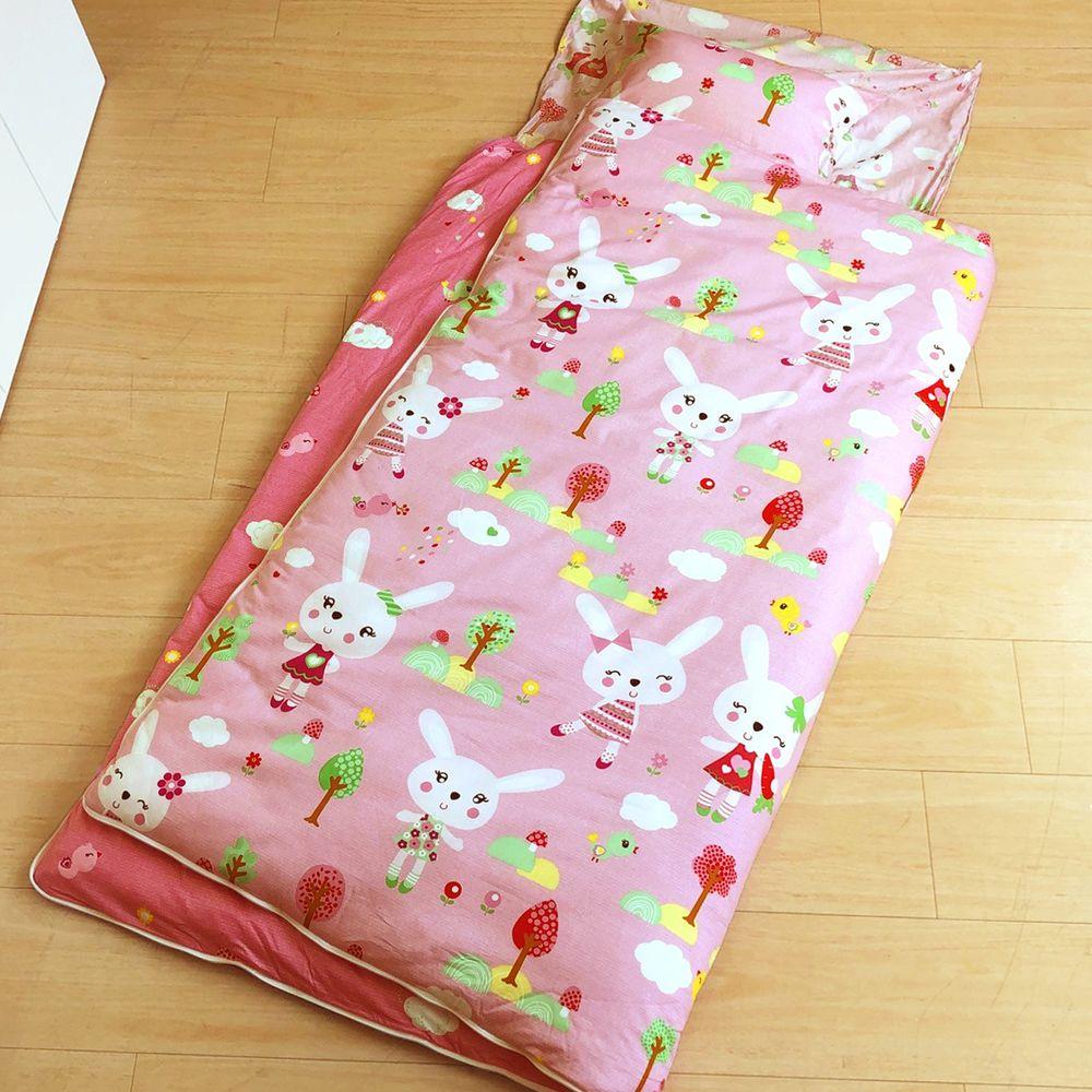 鴻宇HONGYEW - 防螨抗菌100%美國棉鋪棉兩用兒童睡袋-萌萌兔-2100粉