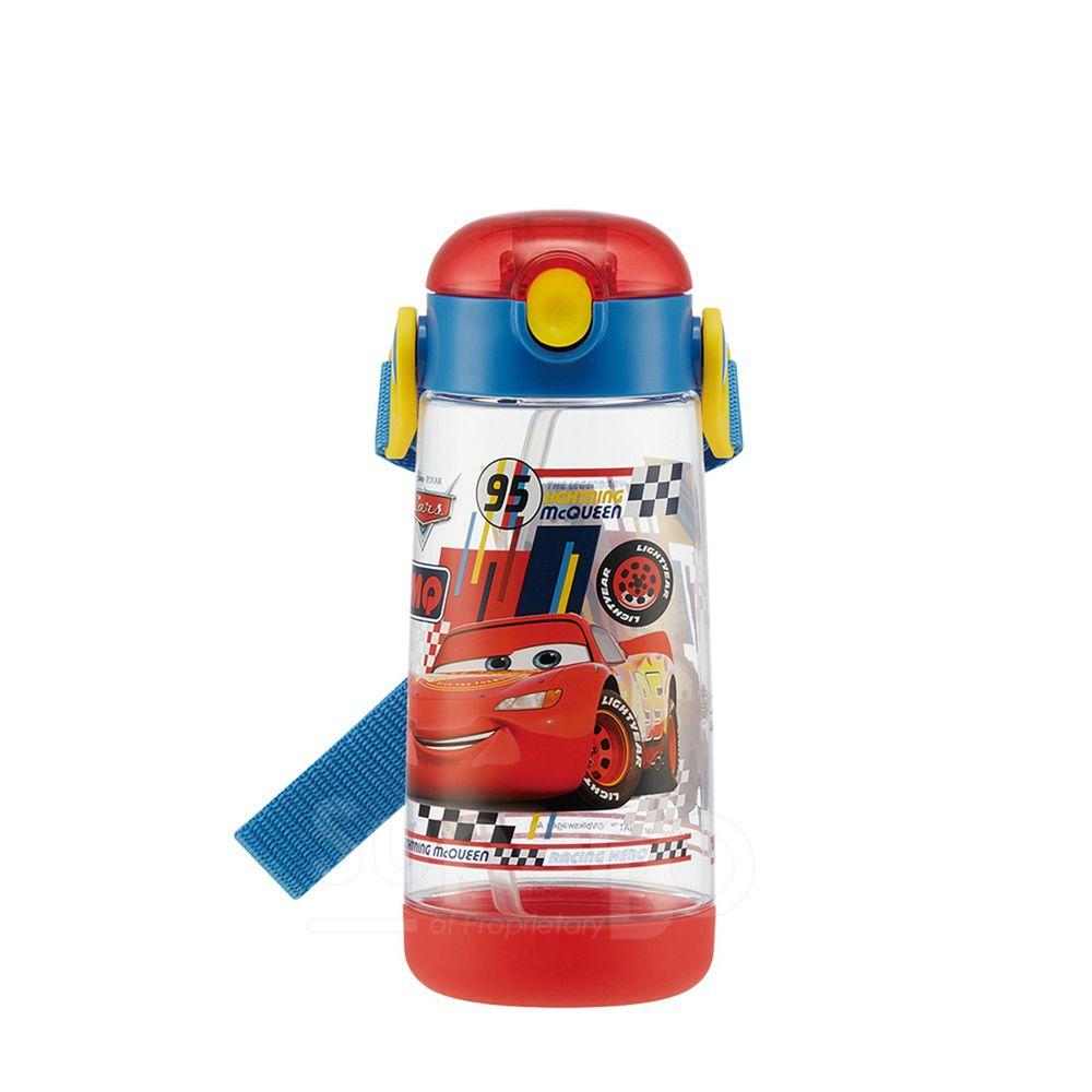 日本 SKATER - 兒童PET吸管水壺(480ml)-CARS-紅藍