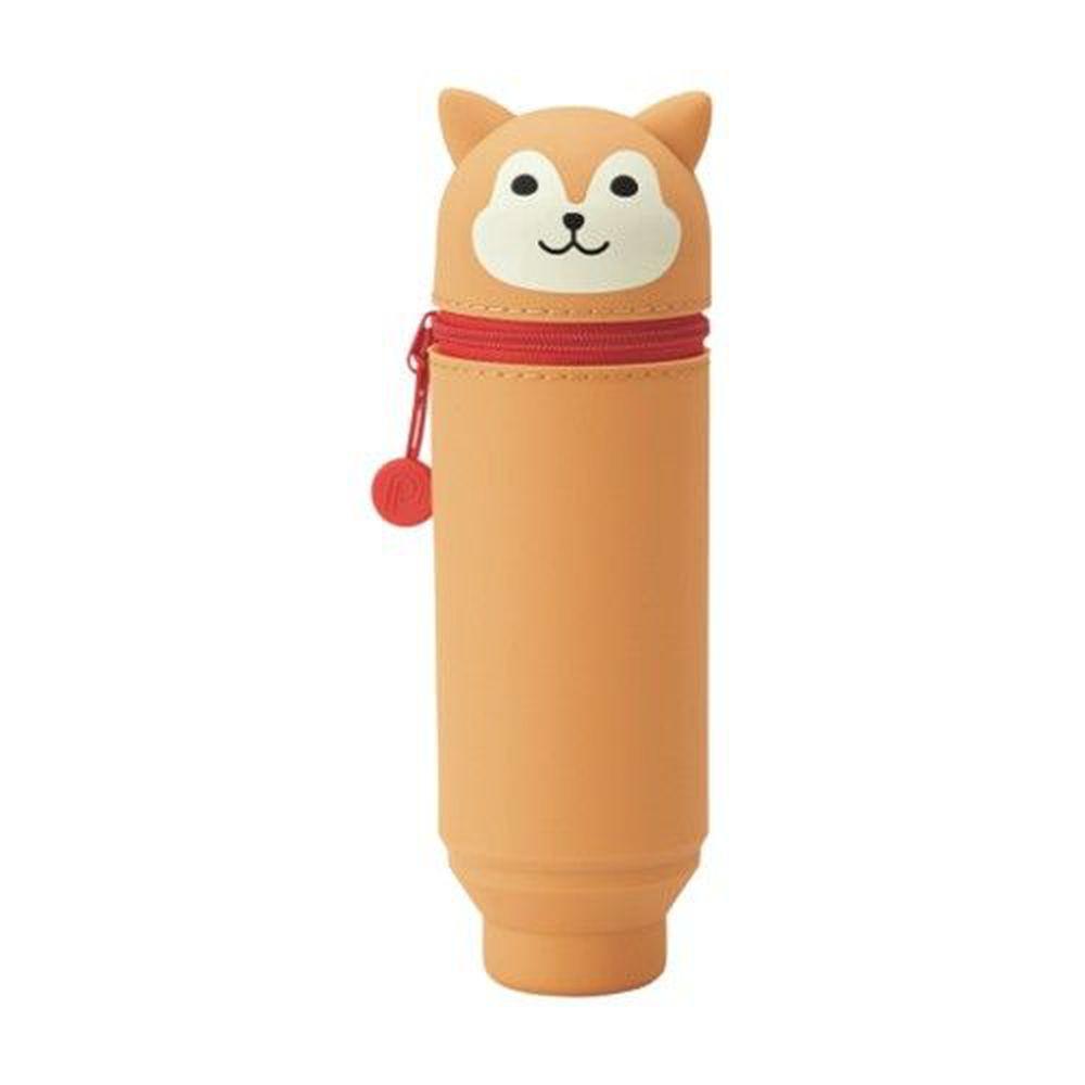 日本文具 LIHIT - 直立式可伸縮鉛筆盒(15支筆)-柴犬 (Standard size)
