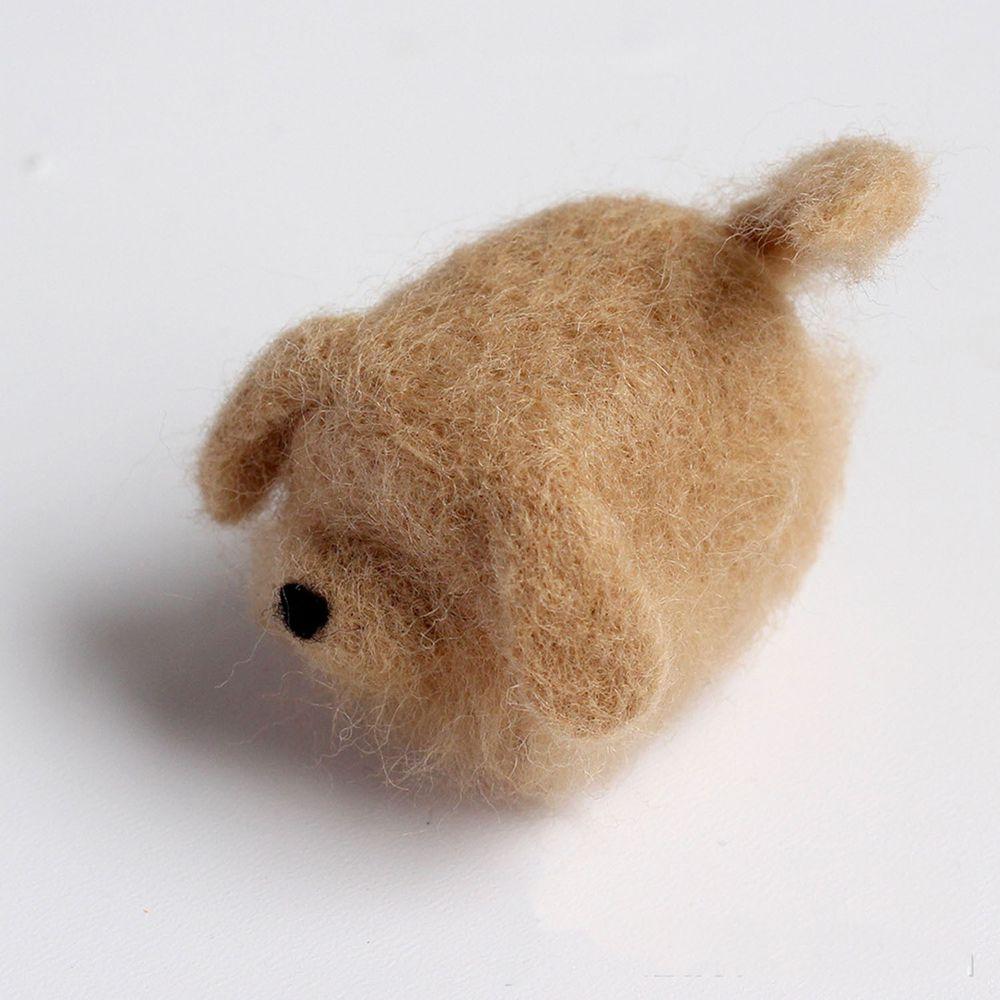 Diy寵物造型羊毛氈戳戳樂材料包-金毛狗狗