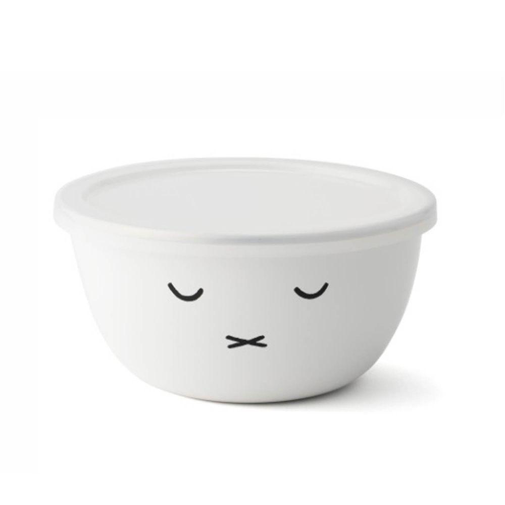 FUJIHORO 富士琺瑯 - 米菲兔系列-16cm琺瑯烘焙保鮮盒圓形-容量:1.2L 重量:0.4kg