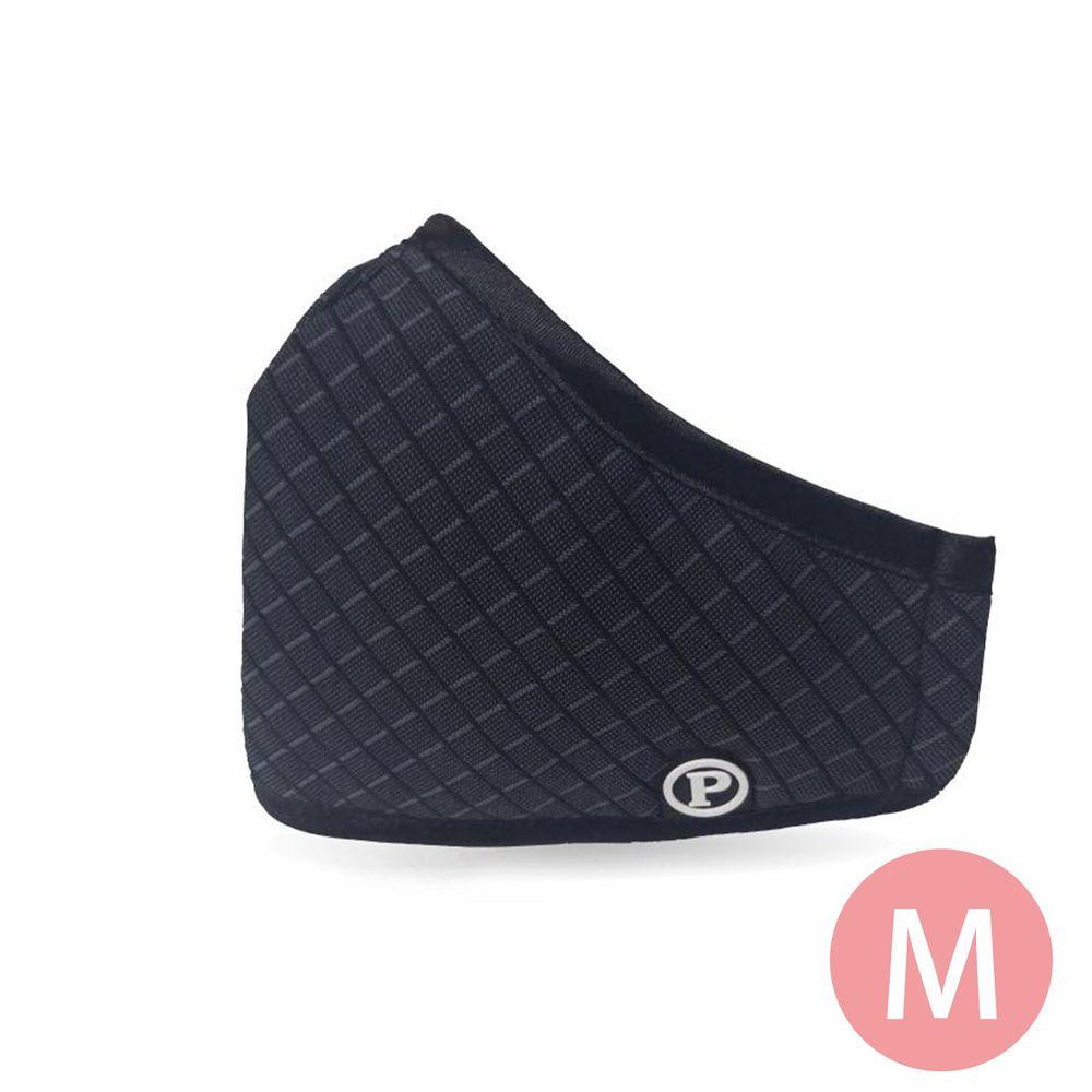PYX 品業興 - 滅菌防霾可水洗口罩-黑格紋-M(7歲以上/女性)
