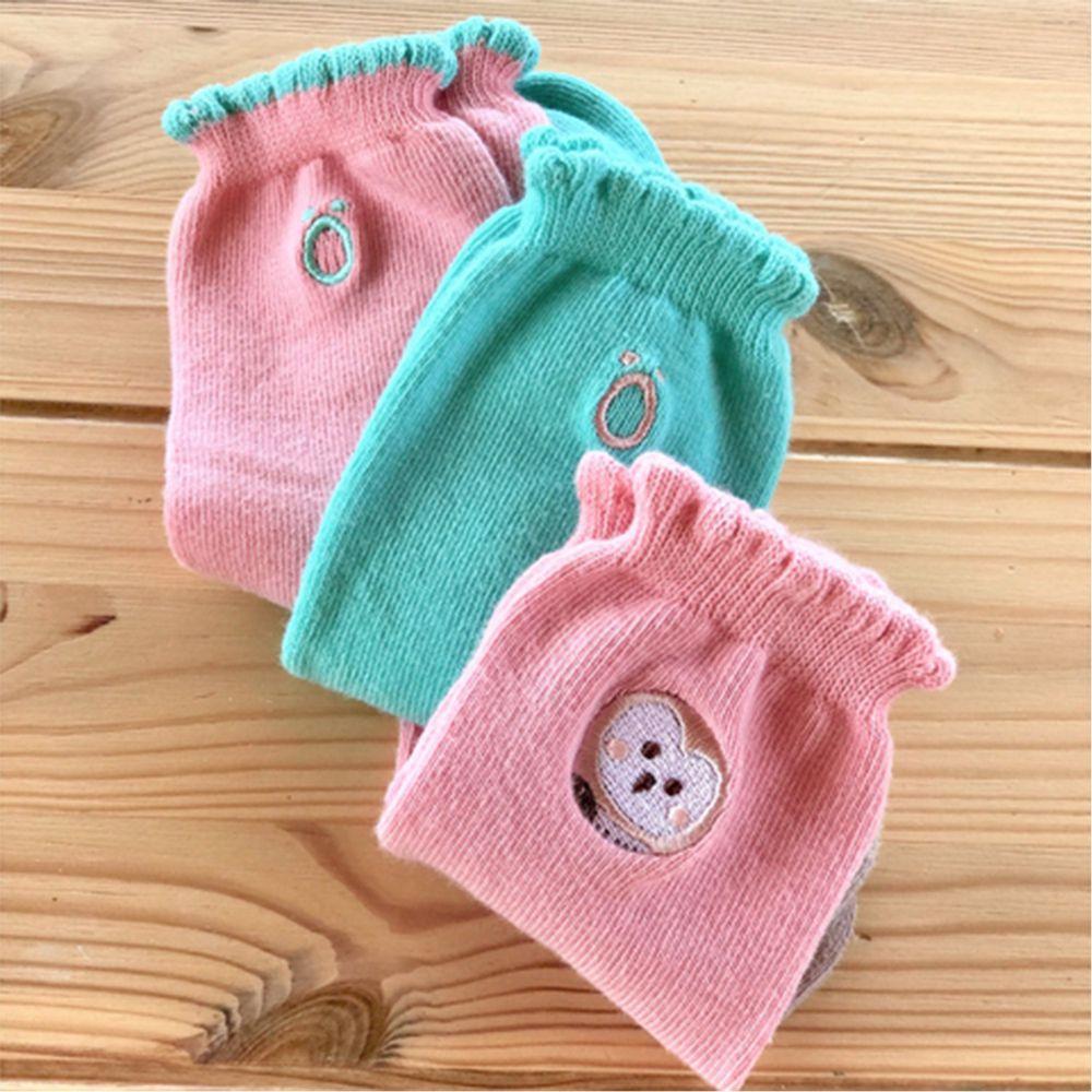 minihope美好的親子生活 - 保育動物精梳棉襪3件組-經典組合-草鴞1雙+經典ö2雙