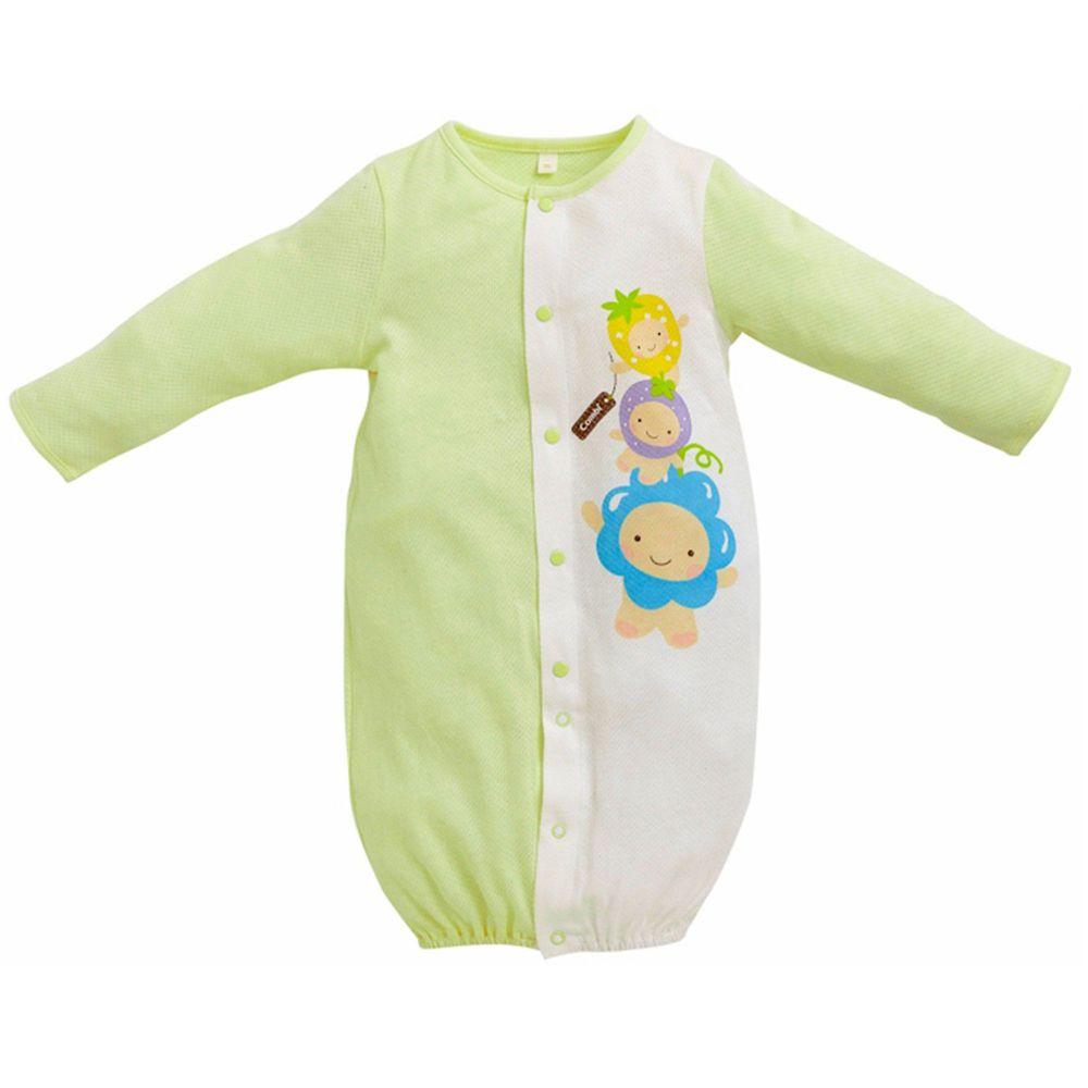 日本 Combi - 反折袖兩用妙妙裝-歡樂水果-綠色