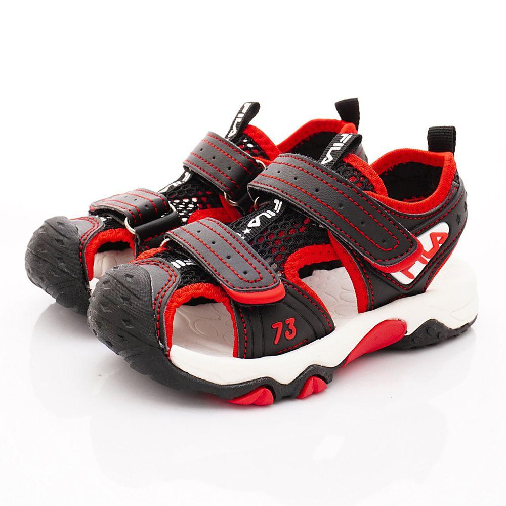 FILA - 護趾運動涼鞋(中小童段)-黑