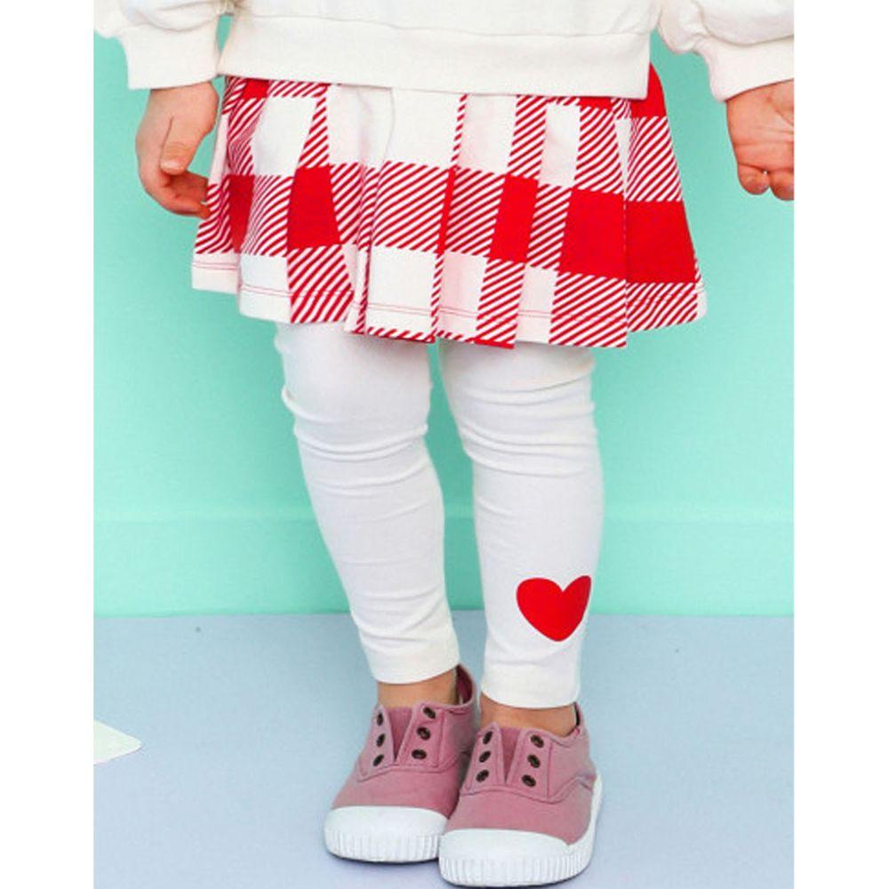 韓國 HEJMINI - 紅色愛心內搭褲