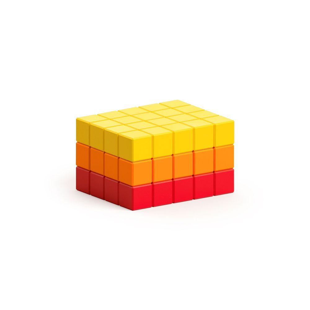 美國 Pixio - 磁力像素小魔方-抽象系列-夏日豔陽60