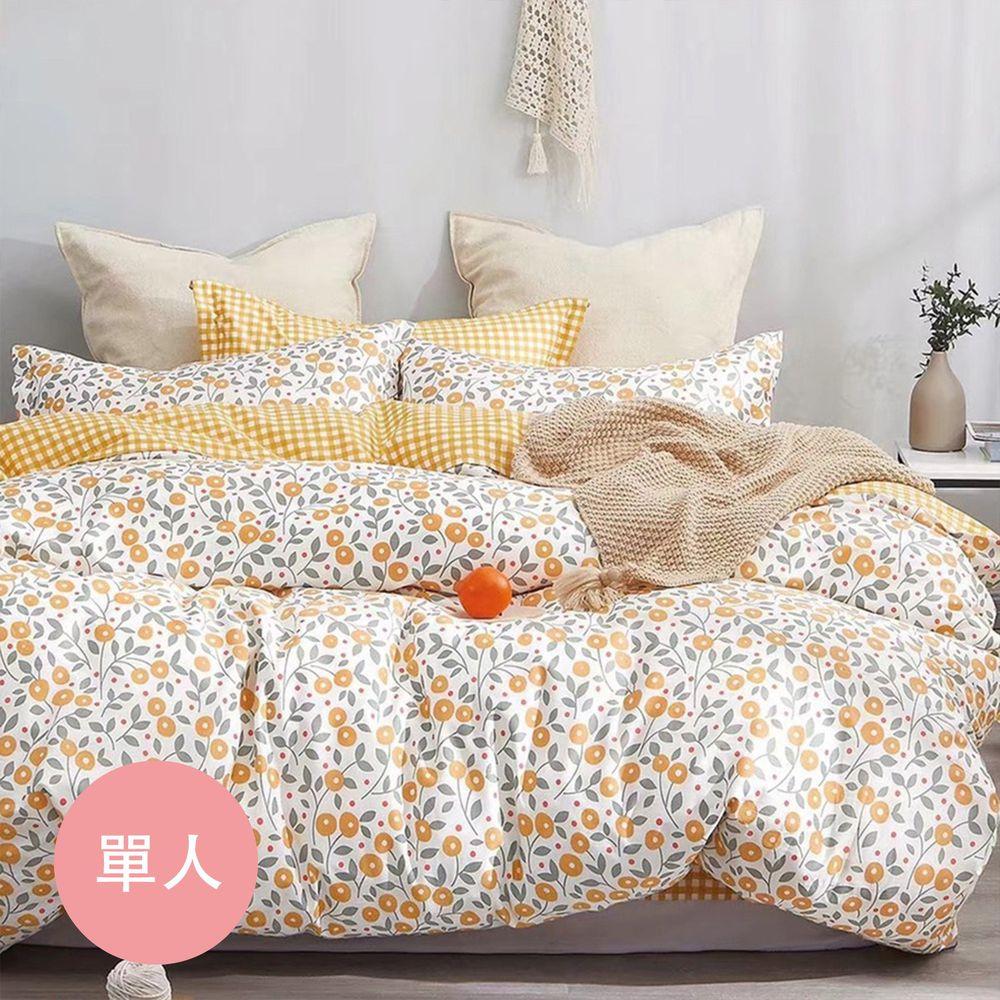 飛航模飾 - 200織純棉枕頭套床包組-悠悠花海佶 (單人3.5×6.2尺)