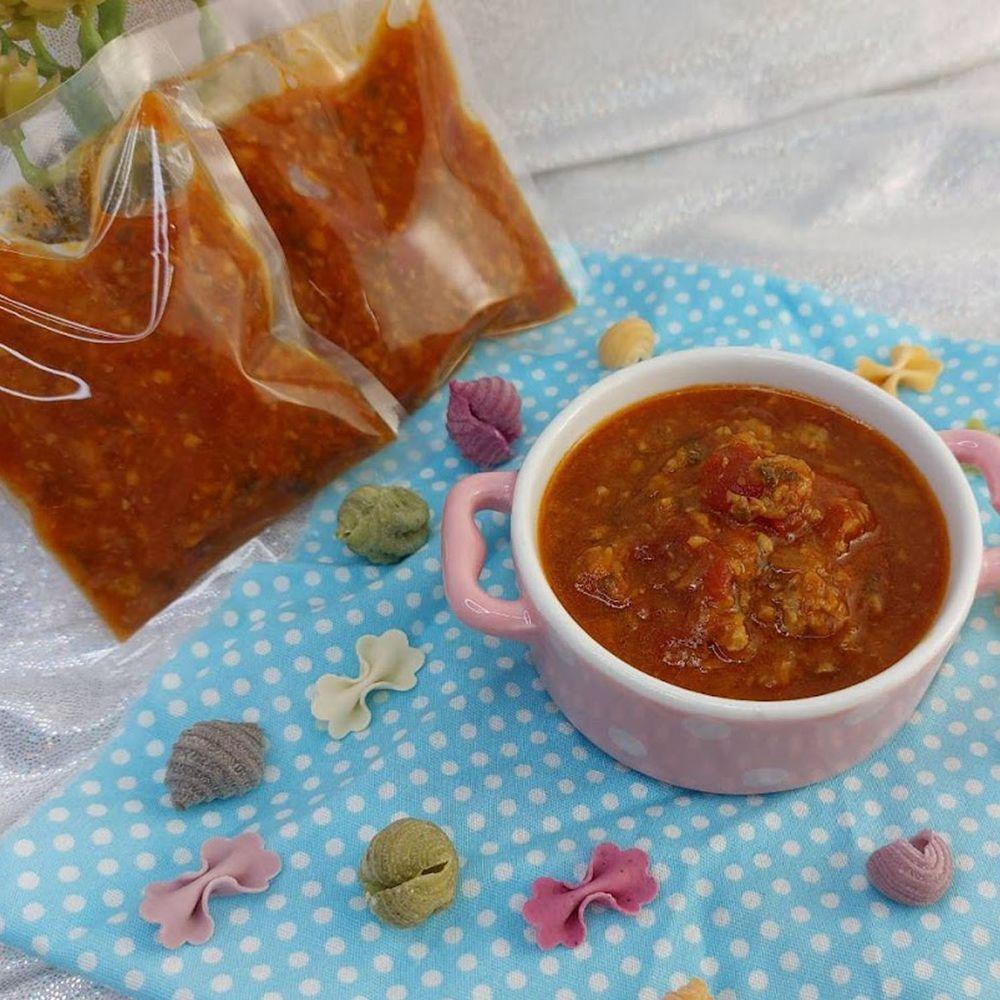 兔比媽咪廚房 - 塔香番茄寶寶肉燥( 5包入 / 每包45公克 )