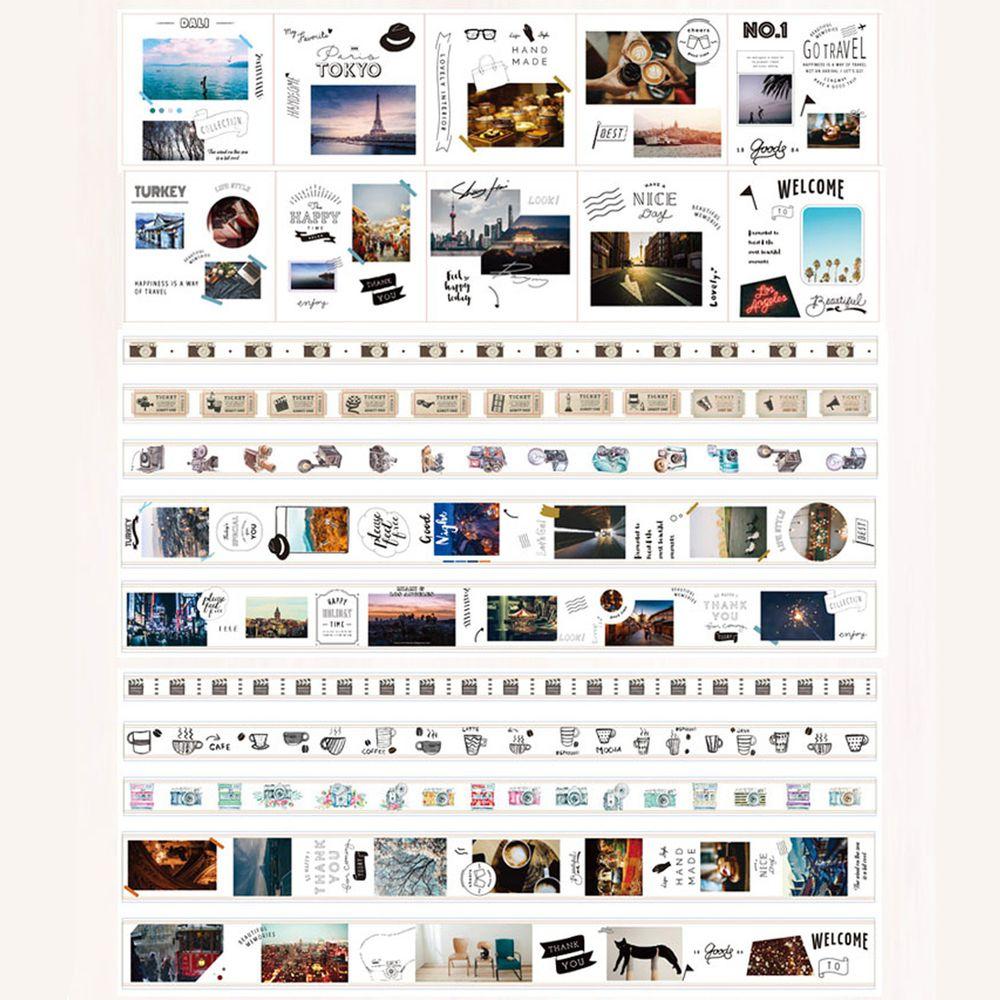 可重複撕黏紙膠帶-光影生活 (10卷膠帶+10張貼紙)