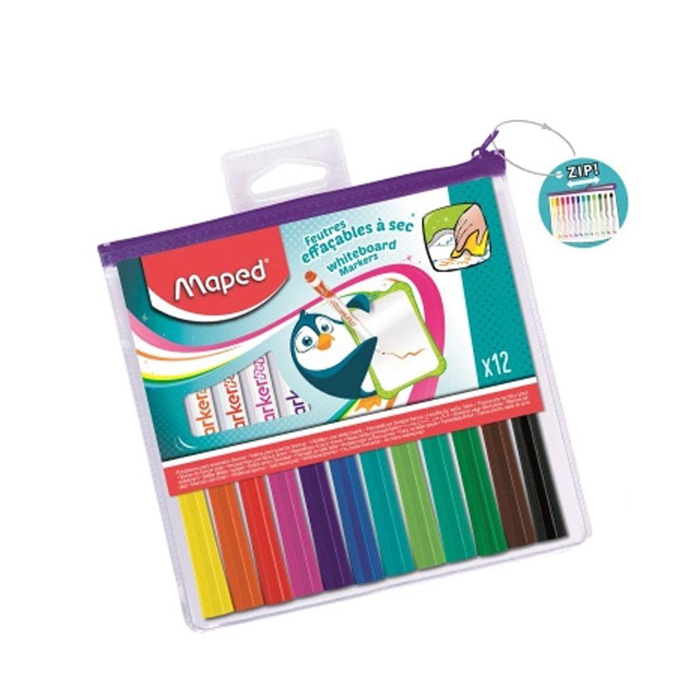 法國MAPED - 兒童安全白板筆12色