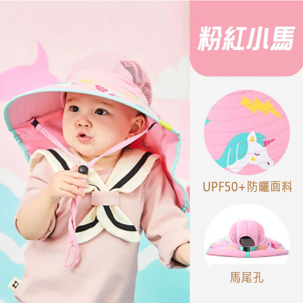 韓國lemonkid - 夏日遮陽帽-粉紅小馬
