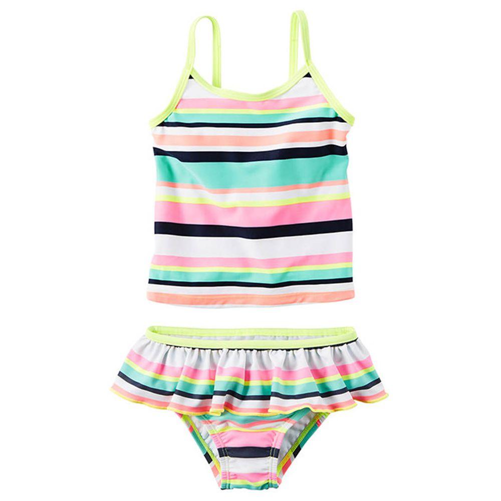 美國 Carter's - 嬰幼兒細肩帶泳裝-條紋 (12M)