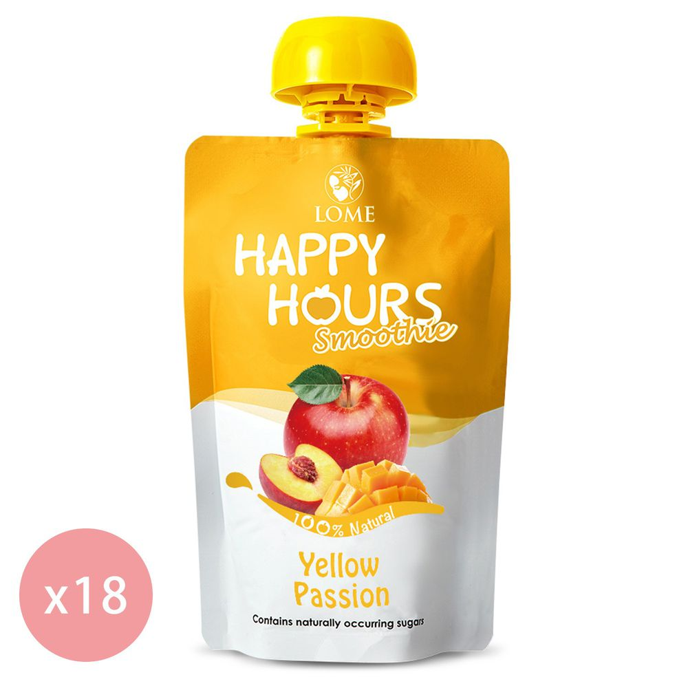 HAPPY HOURS - 生機纖果飲(蘋果/桃子/芒果)100g-18包