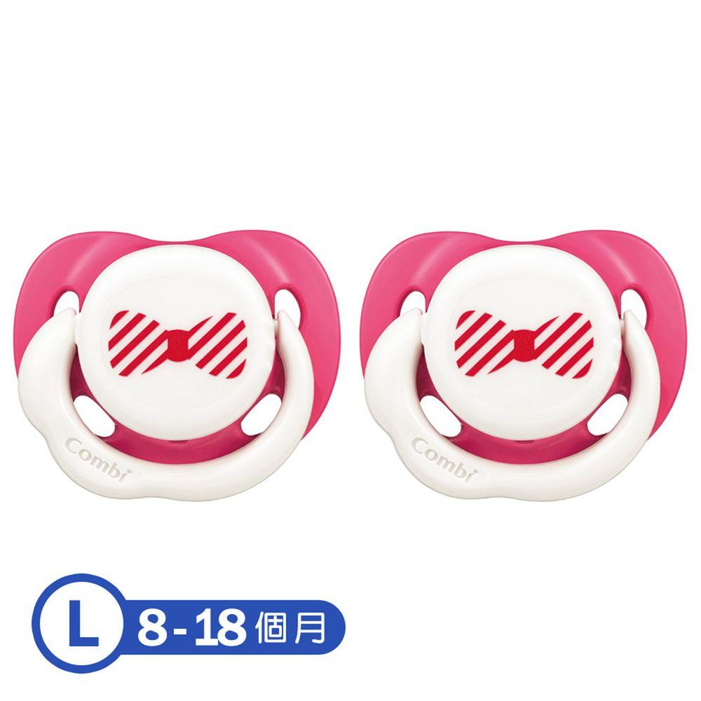日本 Combi - Smile 微笑安撫奶嘴(2入)-微笑紅x2 (L)