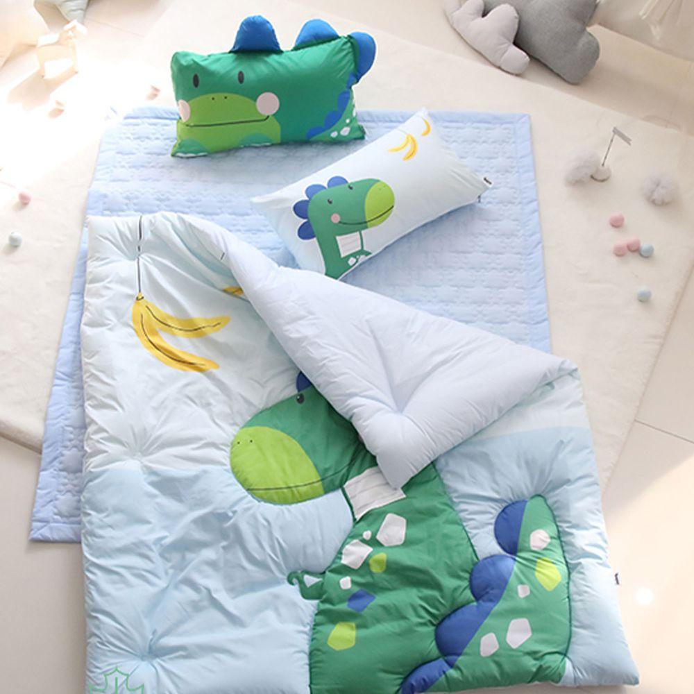 韓國 Teepee - 四季用睡袋/寢具7件組(無拉鏈)(附收納袋)-香蕉小恐龍