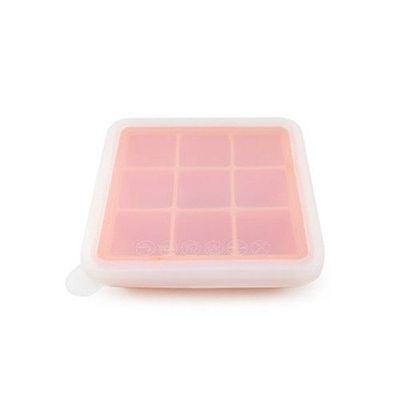 矽膠副食品分裝盒/製冰盒-9 格-橘色-9格x35mL