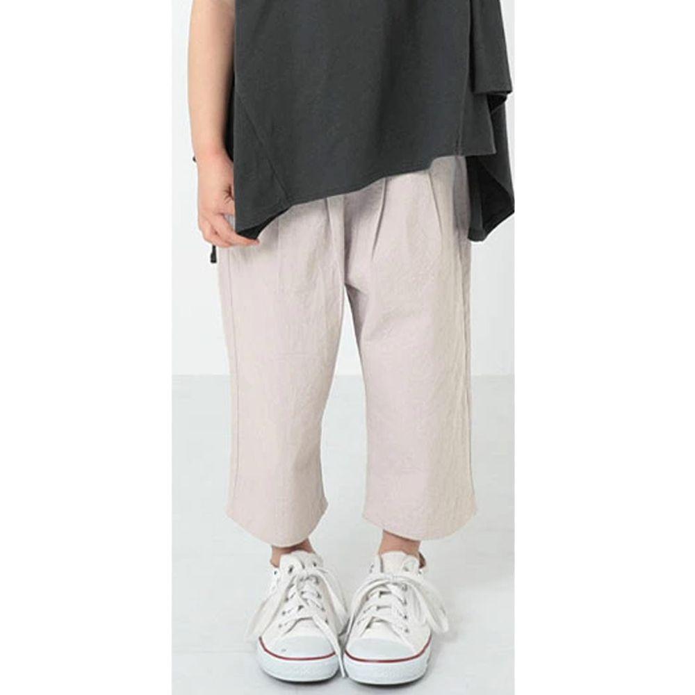 日本 devirock - 純棉舒適直筒七分寬褲-淺灰紫