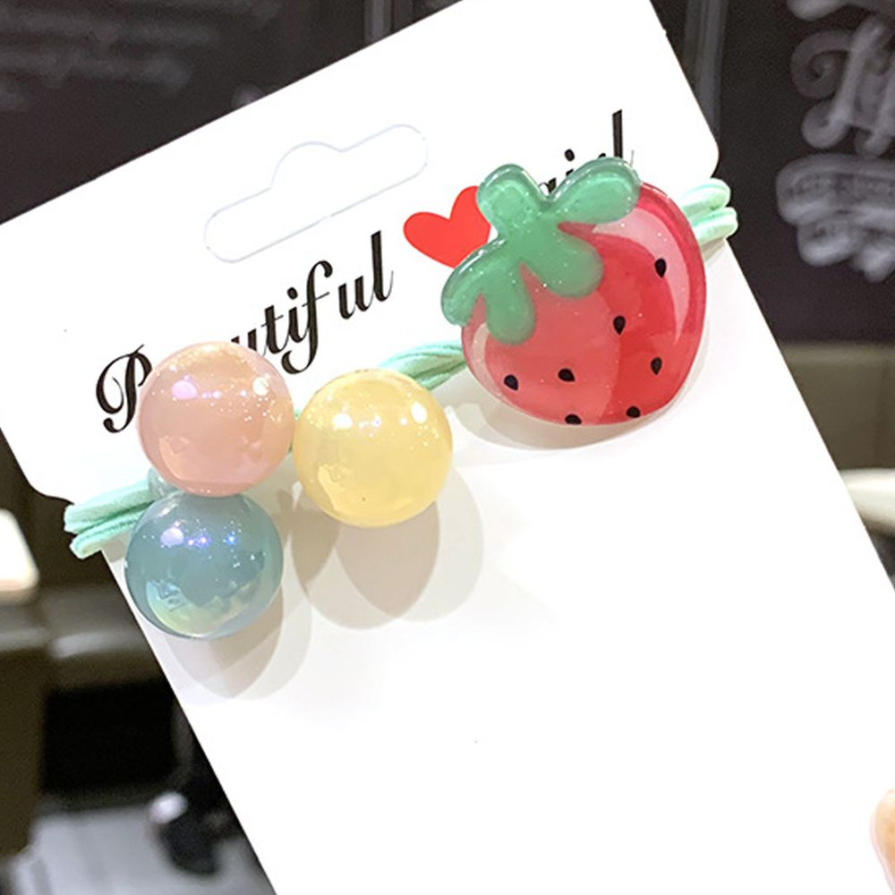閃亮水果糖髮圈-草莓