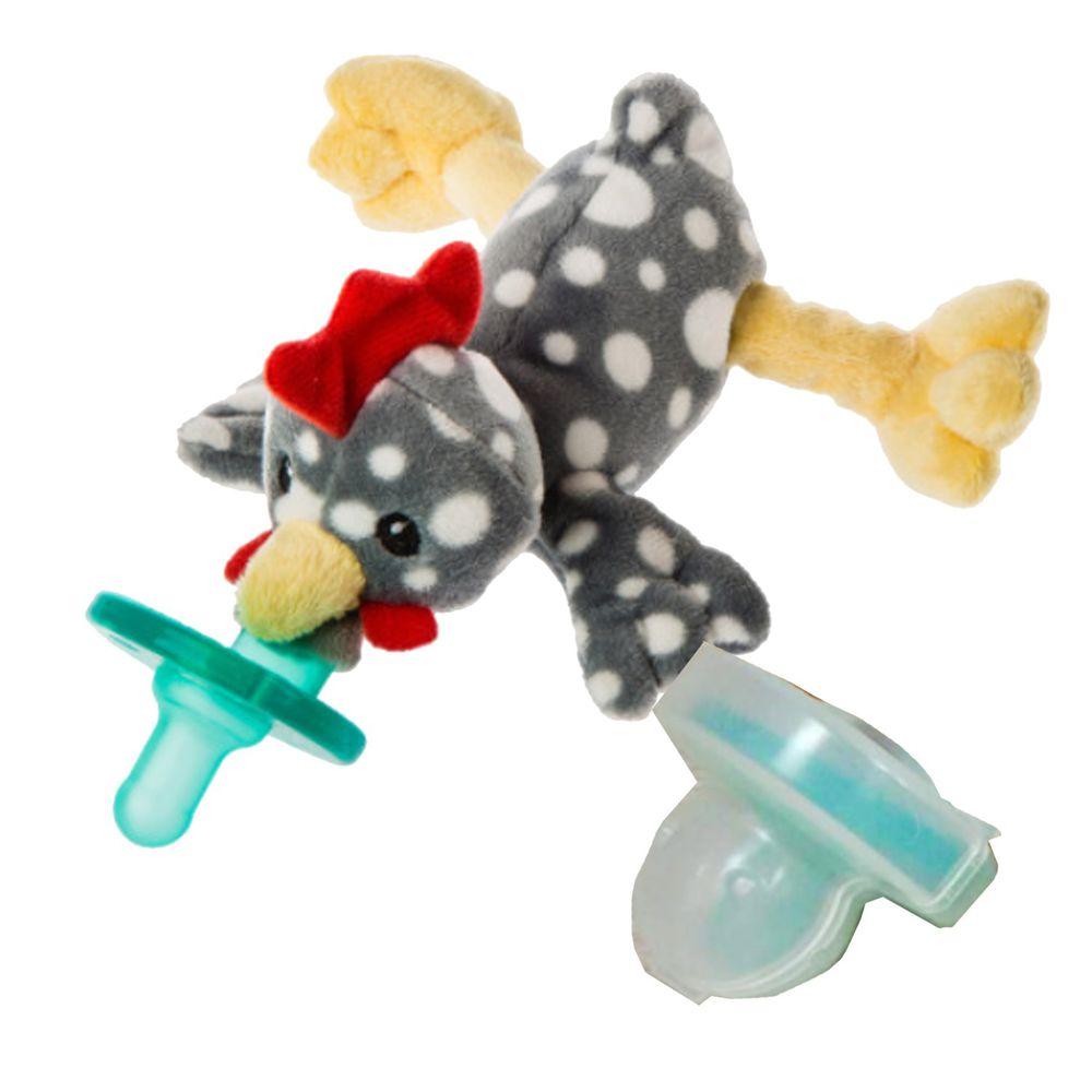 美國 MaryMeyer 蜜兒 - 玩偶安撫奶嘴-收納絕配組-搖滾小雞+奶嘴專用盒(透明)