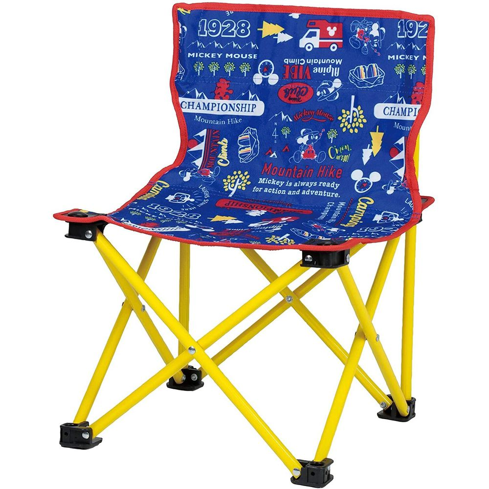 日本 Pearl 金屬 - 迪士尼 輕巧摺疊椅-米奇-藍X紅 (耐重60kg)