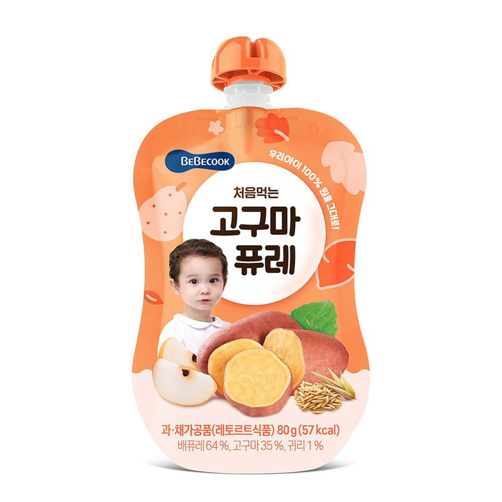 BEBECOOK 寶膳 - 嬰幼兒綿綿 雪梨番薯泥(6M以上)